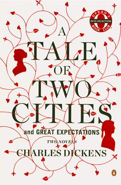 "This undated photo provided by Penguin Books shows the soft cover two-book edition of Charles Dickens' classic novels ""A Tale of Two Cities"" and ""Great Expectations."" Oprah Winfrey plans to announce Monday, Dec. 6, 2010, that the pair of novels, issued in a single bound paperback edition of around 800 pages, is her latest book club pick."