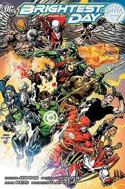 The cover of Brightest Day Vol. 1, written by Geoff Johns and Peter Tomasi.