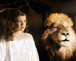 Lion's share of adventures: After confronting her greatest temptation, Lucy (Georgie Henley) seeks advice from Aslan in the third Chronicles of Narnia film.