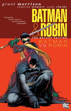 Cover art for the comic book Batman vs. Robin written by Grant Morrison.