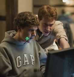Jesse Eisenberg, left, and Joseph Mazzello star in The Social Network, which was named one of the year's 10 most outstanding films by the American Film Institute.
