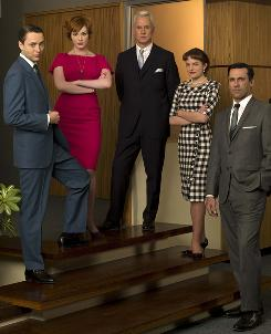 Mad Men collected another three nominations this year: drama series and Jon Hamm and Elisabeth Moss in the lead acting fields.