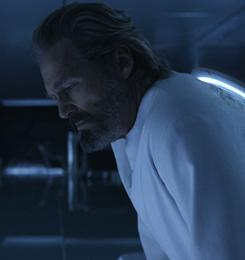 Fighting for survival: Jeff Bridges reprises his role as pioneering software programmer Kevin Flynn, who disappeared 20 years earlier into a treacherous cyber-universe.