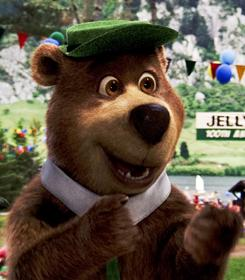 Dan Ayckroyd's voice work as Yogi Bear is one of the few bright spots in the 3-D movie.