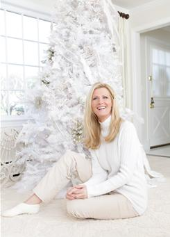 "All dressed in white: Sandra Lee went a little ""over the top"" decorating her Westchester County home, which she shares with her partner, New York Governor-elect Andrew Cuomo."