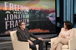 Best-selling author Jonathan Franzen and talk-show host Oprah Winfrey discuss his latest book, Freedom, Winfrey's 64th book-club selection.