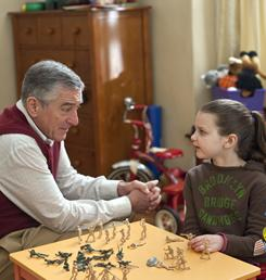 Grandpa Jack (Robert De Niro) and Samantha Focker (Daisy Tahan) have a heart-to-heart talk in Little Fockers.