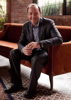 """Kevin Spacey, photographed at the Bowery Hotel in New York, says it """"really doesn't take that much effort"""" to stay away from the paparazzi and out of the tabloids. The actor earned a Golden Globe nomination for playing disgraced lobbyist Jack Abramoff in Casino Jack."""