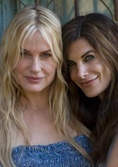 Their games: Daryl Hannah, left, and best friend Hilary Shepard.