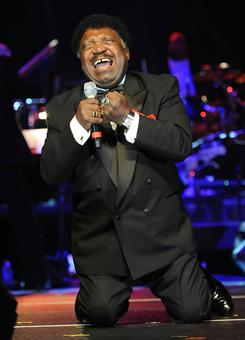 """Still an onstage presence: These days, Percy Sledge, 70, performs about 100 concerts a year, and he sings his signature song, When a Man Loves a Woman, at every one. """"I never get tired of singing it,"""" he says. """"It's always the last song in my show."""""""