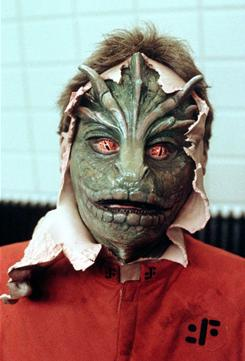 Old Visitors: The aliens' look in the 1980s TV series was innovative for its time.