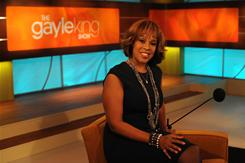 Gayle King's eponymous talk show launches on the Oprah Winfrey Network on Monday.