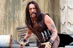Danny Trejo plays a double-crossed ex-Federale out for blood in Robert Rodriguez's Machete.