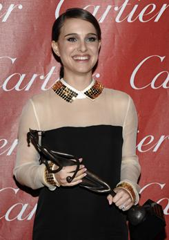 Black Swan star Natalie Portman won a Desert Palm Achievement award at the 2011 Palm Springs International Film Festival gala.