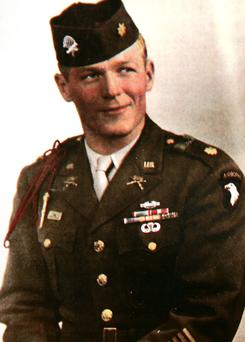 U.S. Army Maj. Dick Winters received the Distinguished Service Cross for his heroism on D-Day, along with accolades in the book Band of Brothers. Winters died Jan. 2 in Palmyra, Pa.