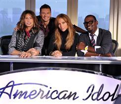 Sitting in judgment are Steven Tyler, left, Jennifer Lopez and, at right, Randy Jackson. Ryan Seacrest returns as host for American Idol's 10th season.