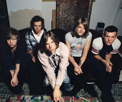 No, thank you: Lincoln Parish, left, Jared Champion, Matt Shultz, Daniel Tichenor and Brad Shultz of Cage the Elephant uwrap their new album, Thank You Happy Birthday.
