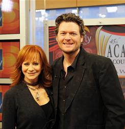 New recruit: Reba McEntire has hosted the Academy of Country Music Awards for 12 years, but this year, she'll share duties with Blake Shelton  who may have to tone down his raunchy humor. The two announced the 2010 ACM nominees together last March.