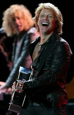 Blaze of glory: Jon Bon Jovi and his bandmates pulled in $108.2 million at the box office in 2010.