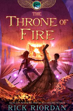 Riordan: His Throne of Fire hits bookstores on May 3.