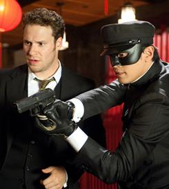 Fighting bad guys in Los Angeles: Seth Rogen and Jay Chou are the Green Hornet and his sidekick, Kato, in the new film based on the radio show and the 1960s television series.