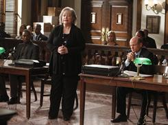 "Oscar-winning actress Kathy Bates stars in her first TV series as Harriet ""Harry"" Korn. Aml Ameen, left, and Paul McCrane also star."