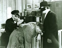 Old school: Gordon Jones, right, as The Green Hornet and Keye Luke as Kato from 1941.