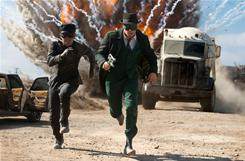 Comic book fan Seth Rogen dons the emerald togs of a superhero in The Green Hornet..