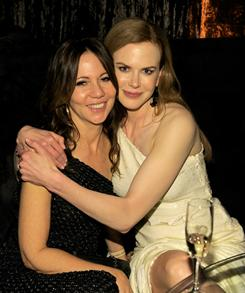 Producer Leslie Urdang gets some love from Nicole Kidman at the Weinstein Co. and Relativity Media's party on Sunday night in Beverly Hills.