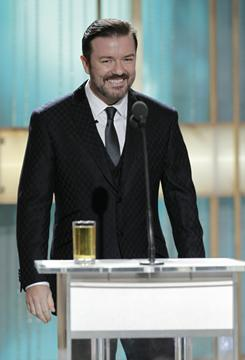 """Crossed the line"": That's what Ricky Gervais did, the HFPA president said."
