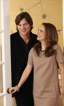 "Ashton Kutcher stands tall, over 6 feet, while co-star Natalie Portman is just over 5 feet. ""You really chose to wear flats"" to the photo shoot? Kutcher teases. ""I know!"" she says."