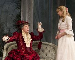 Brian Bedford, left, and Charlotte Parry star in a new production of Oscar Wilde's The Importance of Being Earnest, now playing on Broadway.