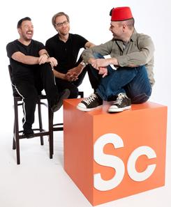 "Ricky Gervais, left, and Stephen Merchant enlist Karl Pilkington for an adventure to the seven wonders of the world. The comedic travel documentary Idiot Abroad is ""a bit of a social experiment,"" Gervais says."