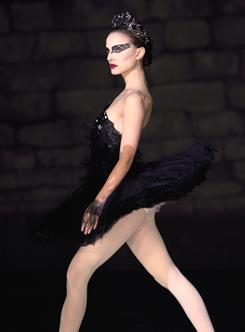 Ballet in black: Natalie Portman in Black Swan, which is not performing as a chick flick; audiences are skewing female only a little.
