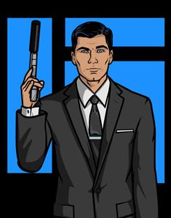 Meet Archer  Sterling Archer: He's a bit of a rough-edged spy. He also has mommy issues.