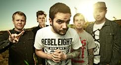 A Day to Remember, from left, Joshua Woodard, Neil Westfall, Jeremy McKinnon, Alex Shelnutt and Kevin Skaff.