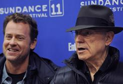 """They crafted a script that was like an atomic bomb"": So says Greg Kinnear, left, about The Convincer, an ensemble film featuring Alan Arkin, right, that was a big hit at Sundance."