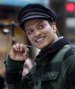 Seven-time nominee: And if Bruno Mars wins any, he can't be up for new artist next year, either.