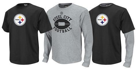 NFL Pittsburgh Steelers short & long sleeve thermal shirt set, $39.99, QVC.com