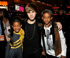 Willow Smith, Justin Bieber and Jaden Smith were together at 2010 American Music Awards in November.