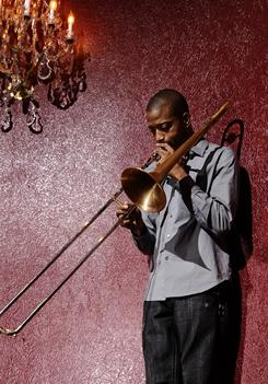 Trombone Shorty, aka Troy Andrews, is up for contemporary jazz album with Backatown.