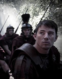 A long march: Channing Tatum, right, is a Roman soldier who goes to ancient Britain to investigate the disappearance of thousands of troops.