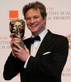 Colin Firth won the best-actor BAFTA on Sunday for his performance in The King's Speech, which also won best picture and five other awards.