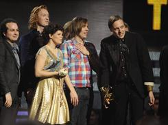 Arcade Fire's win for album of the year for The Suburbs was one of the evening's big surprises.