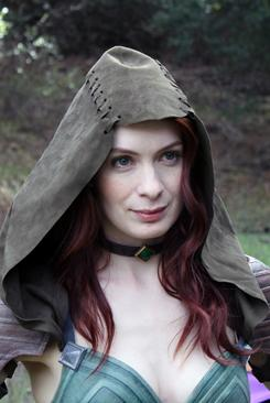 "Felicia Day plays Tallis, an assassin who ""fights dirty,"" in the Web video adventure series Dragon Age: Redemption."