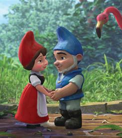 Statuesque ambassadors: On the big screen, there's the animated Gnomeo & Juliet, which earned $25.4 million at the box office in its opening weekend.