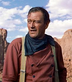 The Searchers: John Wayne is looking for his niece.