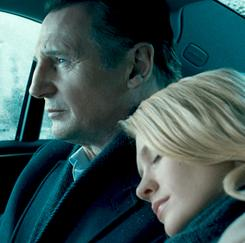 Bad steering: Liam Neeson plays an American scientist, and January Jones is his mysterious wife.