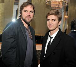 Director Brad Anderson reunites with Hayden Christensen, one of his Vanishing on 7th Street stars, at a New York screening in early February.