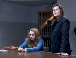 Hayden Panettiere, left, plays Amanda Knox and Marcia Gay Harden plays her mother in Amanda Knox: Murder on Trial in Italy.